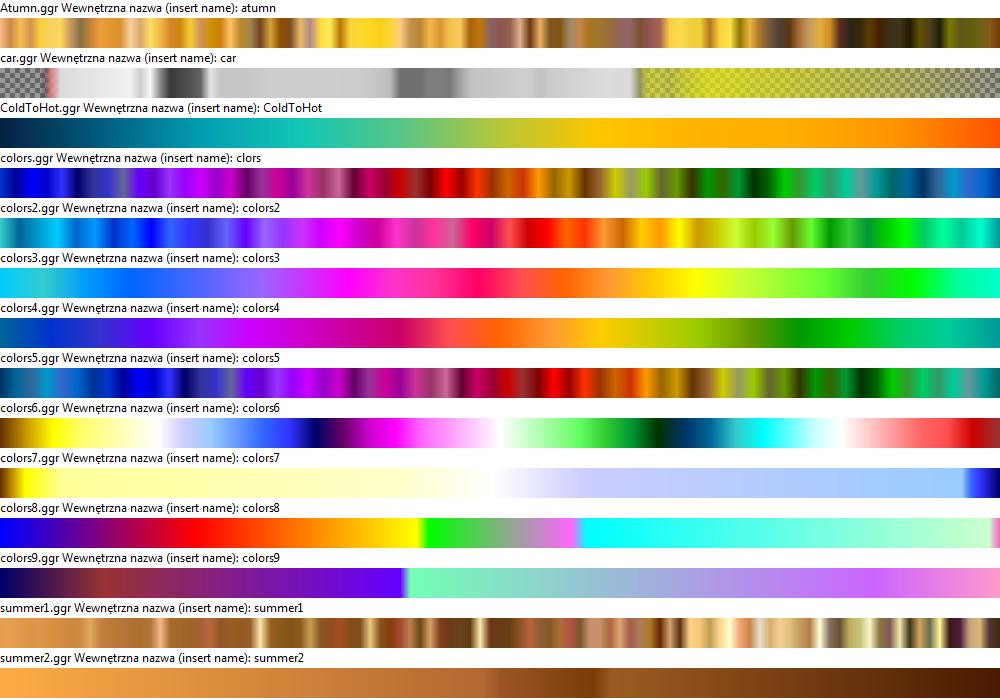 Wygenerowany plik podglądu gradientów *.ggr