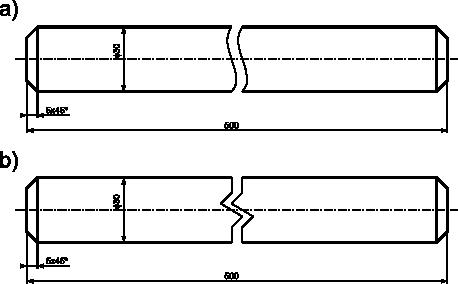 Przykład zastosowania cienkich linii: <b>a)</b> falistych; <b>b)</b> zygzakowych.