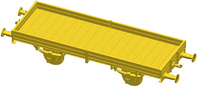 Model 3W narysowany w programie OpenSCAD