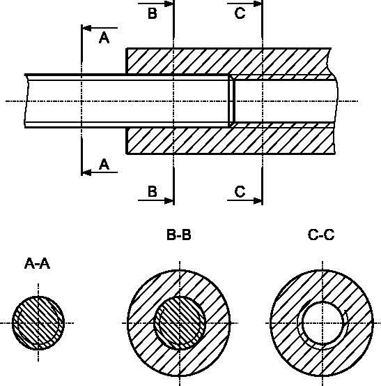 Przykład rysowania połączenia gwintowanego