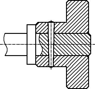 Przykład połączenia kołkowego stożkowego wałka i tulejki.