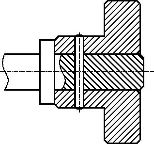 Przykład połączenia kołkowego walcowego poprzecznego wałka i tulejki.