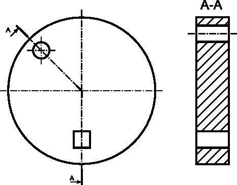 Szczególny przypadek przekroju łamanego, gdzie można stosować załamanie przekroju pod kątem innym niż <b>90°</b>.