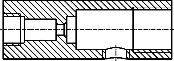 Przykład przekroju osiowego (tego typu przekroi się nie oznacza).