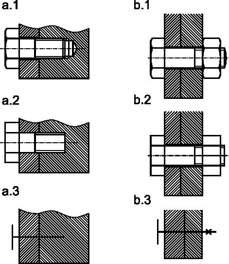 Przykładowe połączenia gwintowane