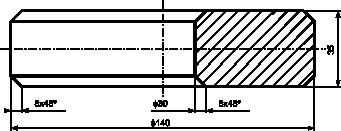 Ilustracja prostego obiektu, dla którego wystarczy jeden rzut w półprzekroju.