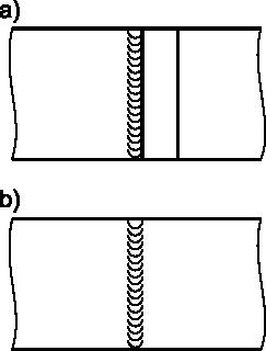 Przykład rysowania spoin od strony lica.