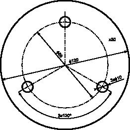 Przykład wymiarowania powtarzających się otworów.