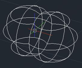 ZwCad - efekt dodawania dwóch sfer