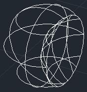 ZwCad - efekt odejmowania dwóch sfer