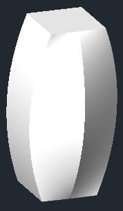 ZwCad - przykład wyciągania przez różne kształty profili