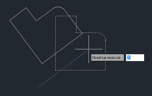 ZwCad obracanie obiektów w płaszczyźnie XY