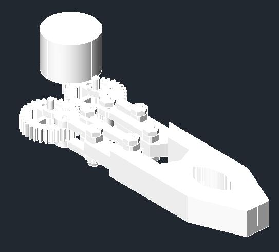 ZwCad - przykład obiektu, dla którego zastosowane zostało odbicie lustrzane