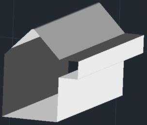 ZwCad - wyciągnięcie obiektów liniowych widok z cieniowaniem
