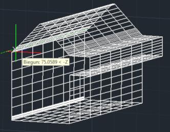 ZwCad - wyciągnięcie obiektów liniowych widok siatki