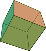 Ilustracja sześciany foremnego (heksaedr-u)