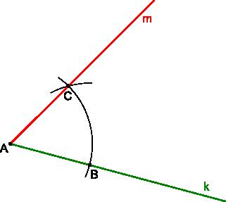 Konstrukcja kreślenia kąta 60°