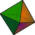 Ilustracja ośmiościanu foremnego (oktaedr-u)