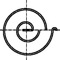 Rysunek uproszczony sprężyny spiralnej