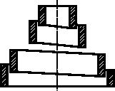 Rysunek uproszczony sprężyny stożkowej śrubowej w uproszczeniu
