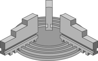 uchwyt tokarski jako praktyczny przykład zastosowania spirali Archimedesa w technice